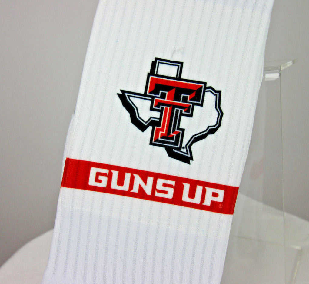 Texas Tech Red Raiders NCAA Athletic Crew Socks Strideline White, ONE SIZE - Fazoom