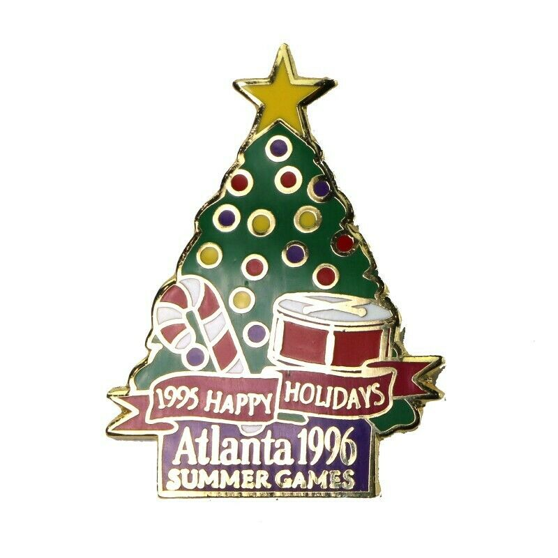 1996 Atlanta Summer Olympics Christmas Happy Holidays 1995 Tree LE 5,000 Pin - fazoom