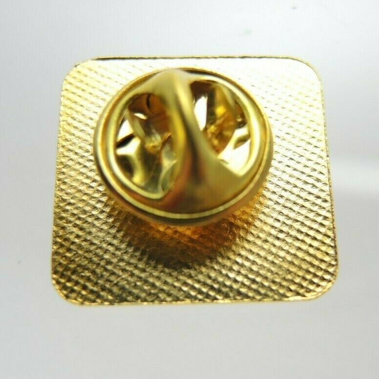 USPS Eagle Logo Metered 95 Gold Tone Rounded Square Lapel Pin - fazoom