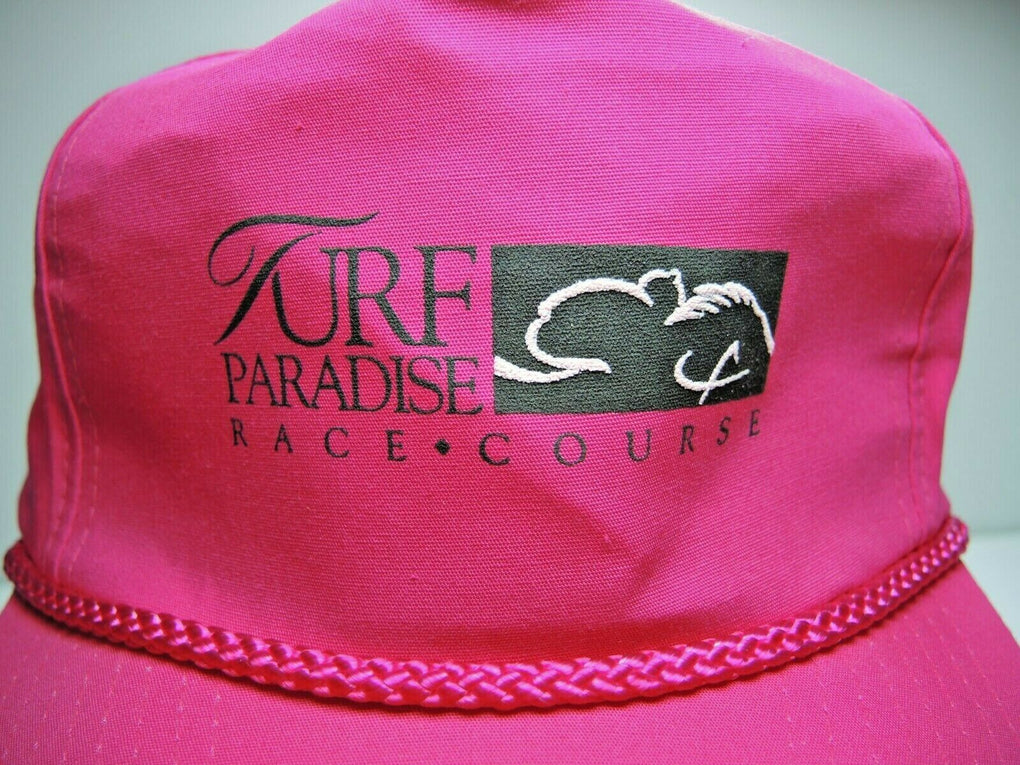 Turf Paradise Phoenix Arizona Vintage Adjustable Baseball Hat Rope Strapback - Fazoom