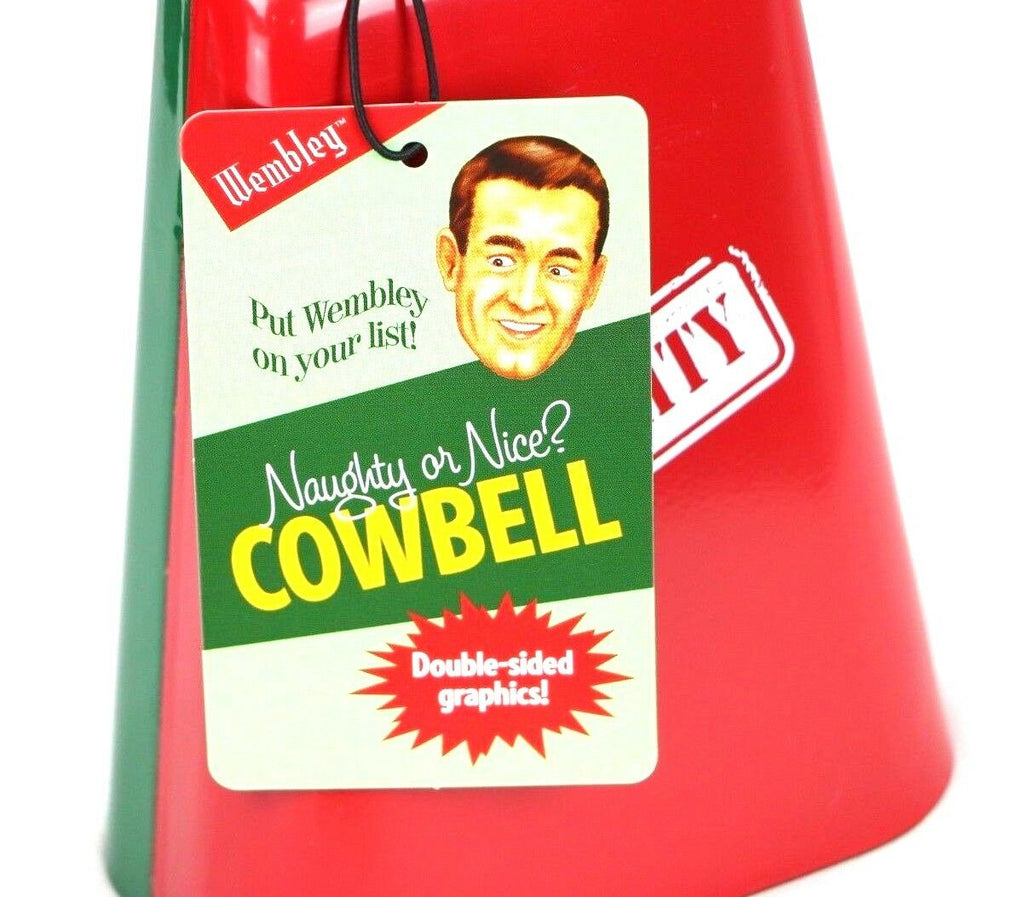 Wembley Christmas Cowbell Red & Green Sports Gag Gift Joke - Fazoom