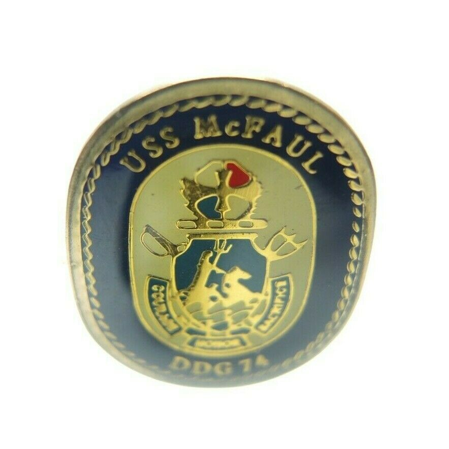 USS McFaul (DDG-74) United States Navy Arleigh Burke-class destroyer Lapel Pin - fazoom