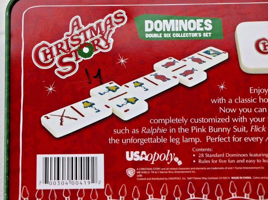 A Christmas Story Dominoes Collectors Tin USAopoly Games COMPLETE - Fazoom