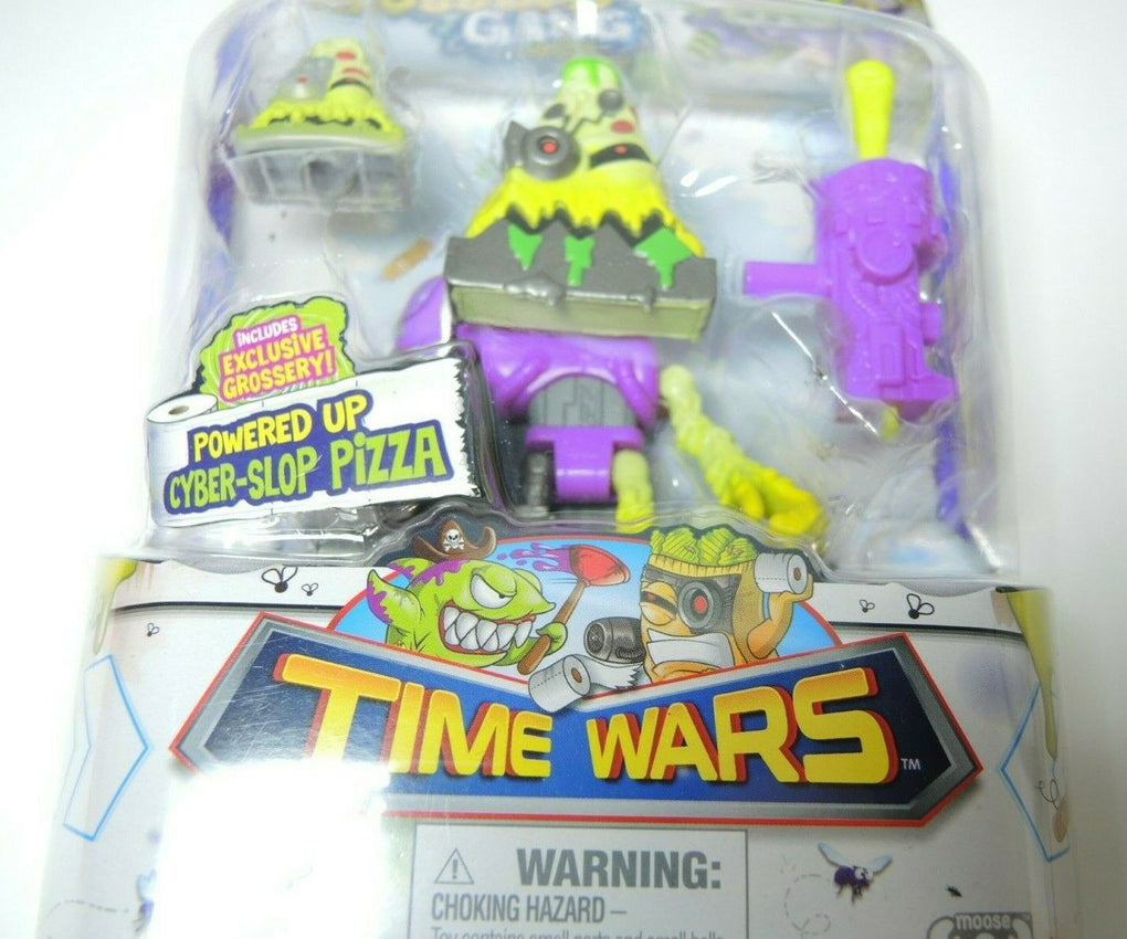 Grossery Gang Time Wars Powered Up Cyber Slop Pizza Slice Action Figure - Fazoom