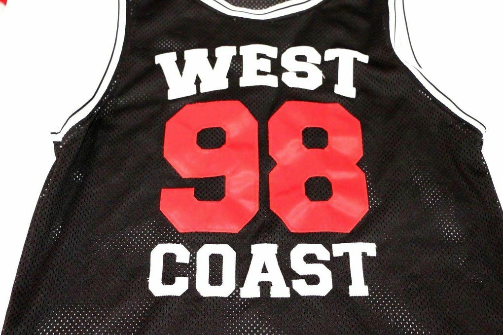 West Coast 98 Basketball Jersey Tank Top Shirt Black Red Forever 21, Size S - Fazoom