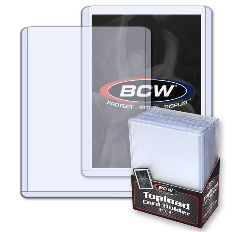 Pack of 25 BCW 3x4 Topload Card Holder ~ Standard ~ 1 Pack of 25 ~ 1-TLCH-N - Fazoom