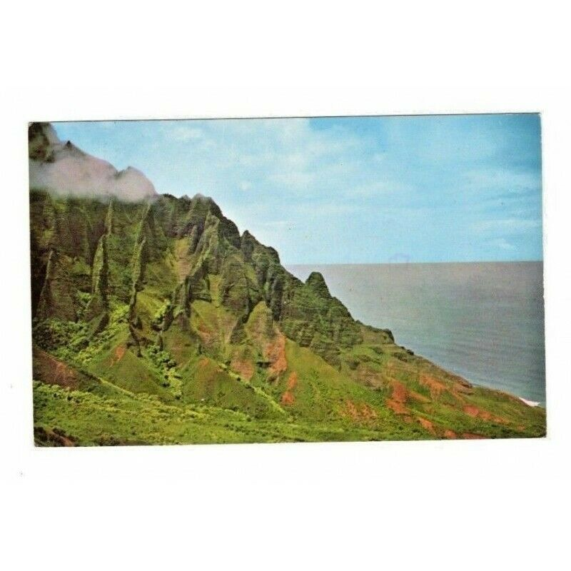 Kalalau Valley Hawaii Postcard 74616 9-Cent US Airmail Delta Wing Stamp - Fazoom