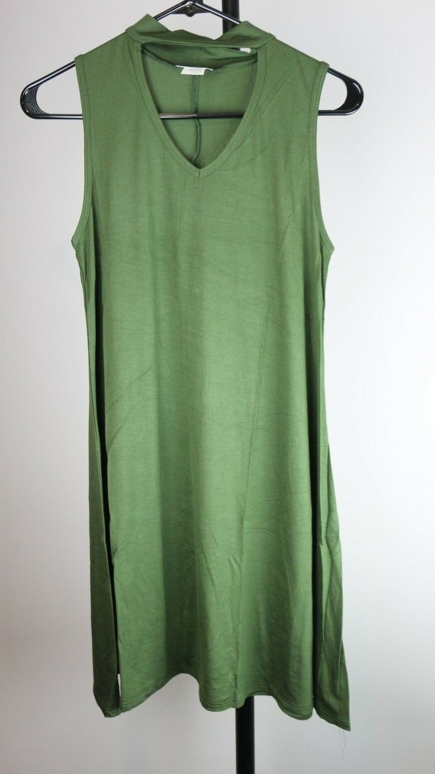 Clementine Women's Petite Plus Sleeveless Chill Dress Size Large L Dark Green - Fazoom