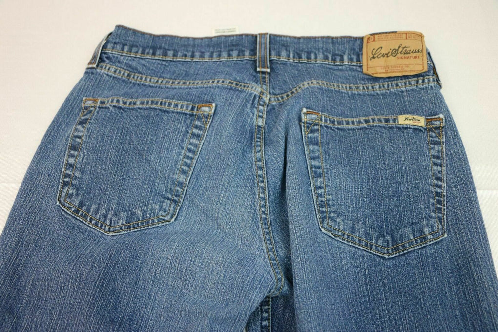 Levi Strauss Signature Women's Stretch Bootcut Denim Blue Jeans Size 8 Medium - Fazoom