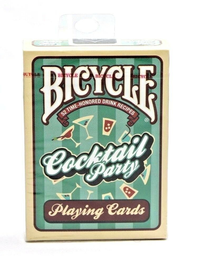 Bicycle Cocktail Party Poker Size Playing Cards 52 Time Honored Drink Recipes - Fazoom