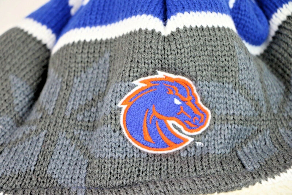 Boise State Broncos NCAA Ridge Beanie Stocking Hat Cap, One Size, Royal - fazoom