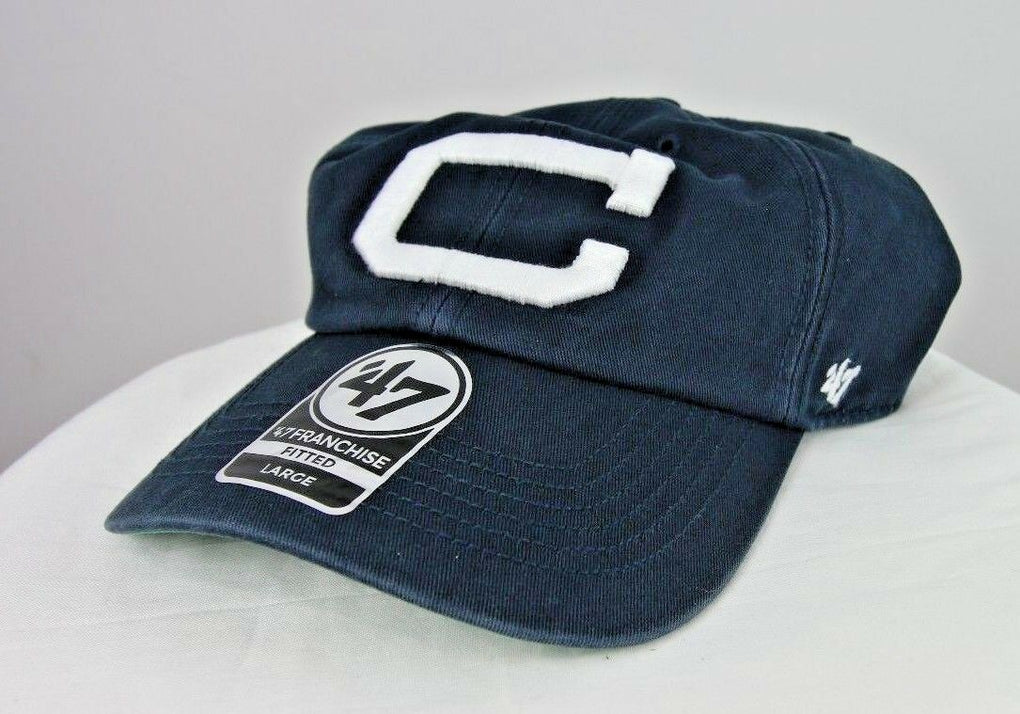 UConn Connecticut Huskies NCAA Men's Blue Fitted Hat Large '47 Franchise Cap - fazoom
