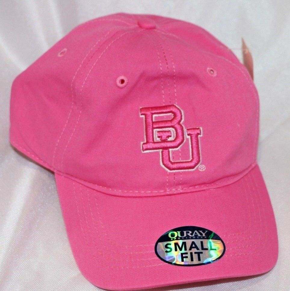 Baylor Bears NCAA Small Fit Epic Hat Cap Adjustable Dark Pink OURAY - fazoom