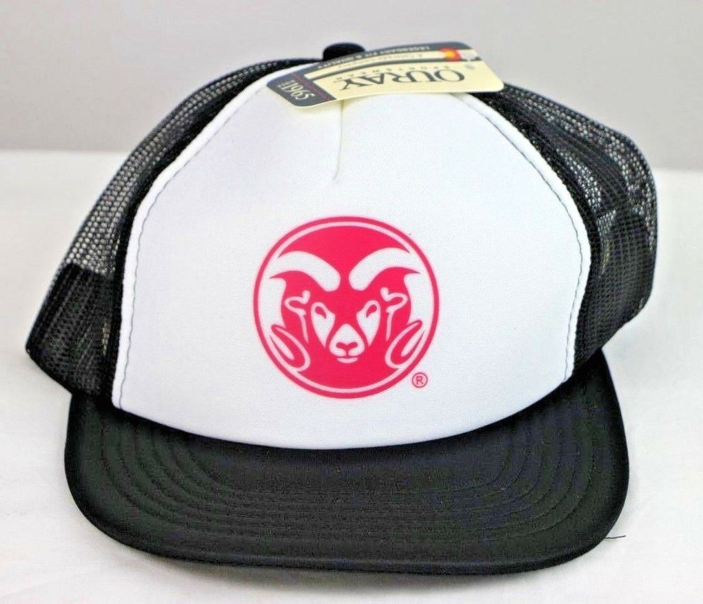 Colorado State Rams NCAA White/Black Foam Front Mesh Back Trucker Cap Hat OS - fazoom