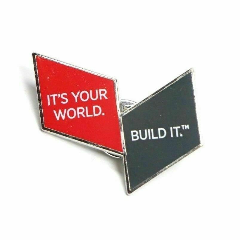 USG Brand It's Your World. Build It. Advertising Lapel Pin Pinback - Fazoom