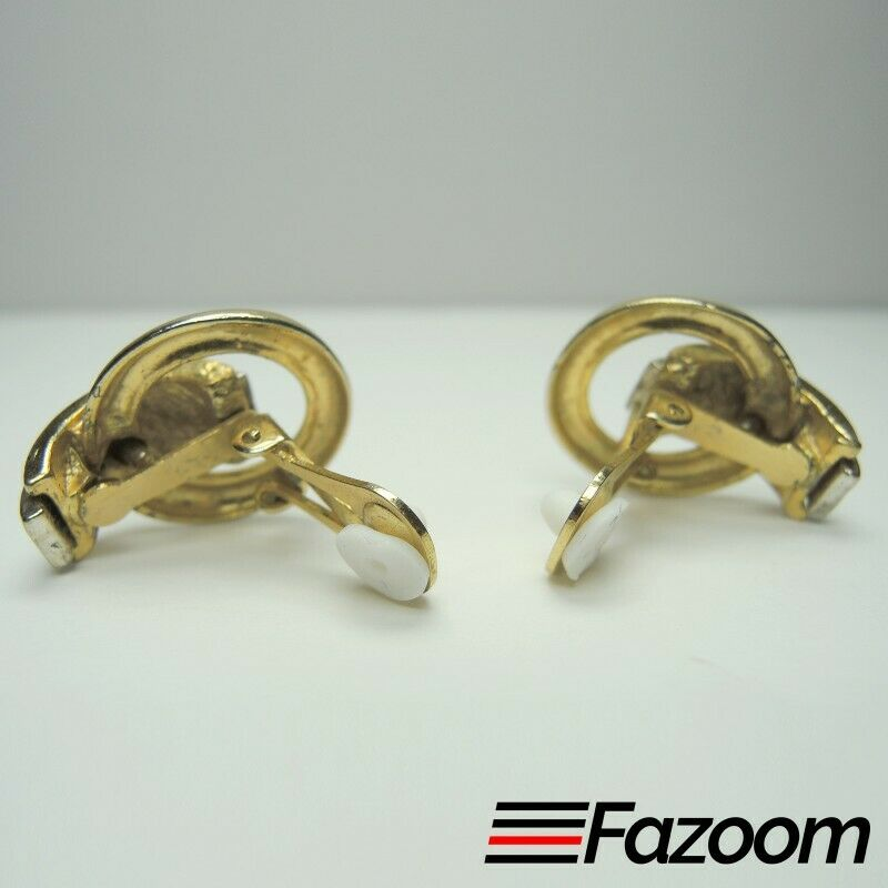 Gold & Silver Tone Vintage Clip-On Earrings ~ Fashion Costume Jewelry - Fazoom