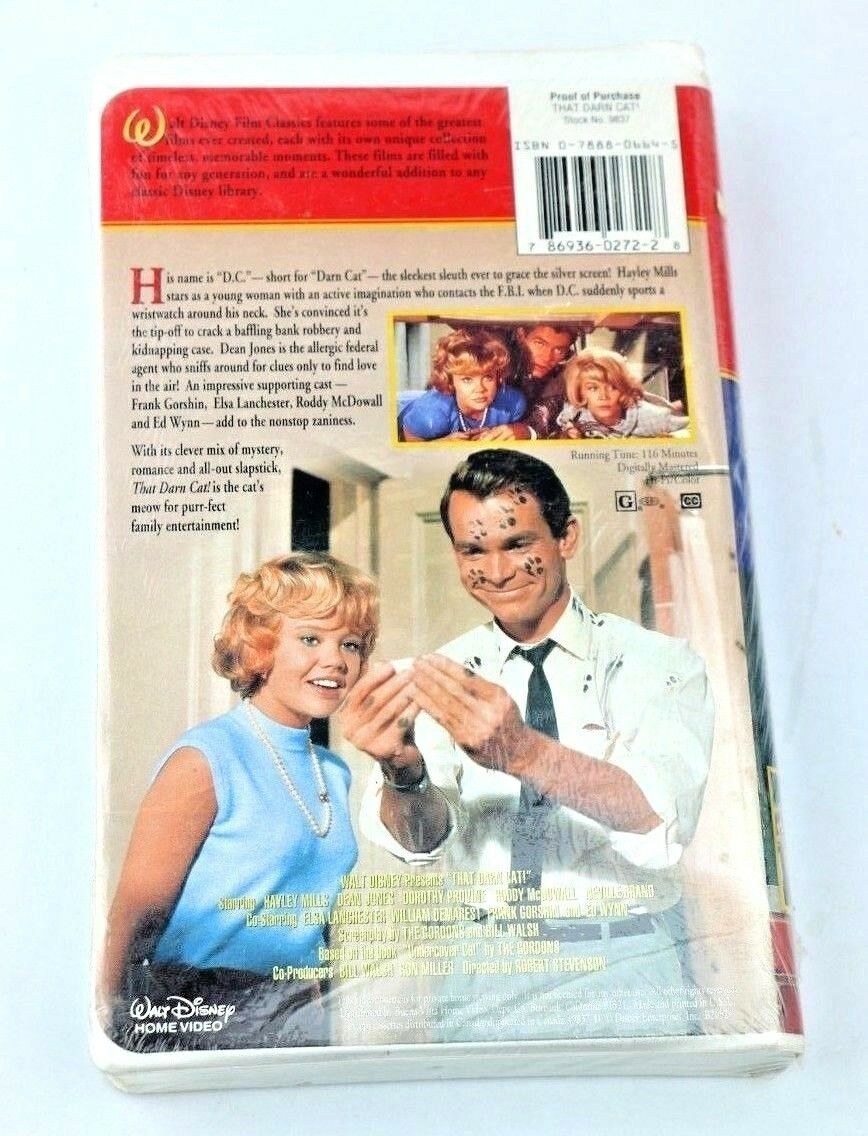 That Darn Cat! (VHS, The Hayley Mills Collection) Video Tape Clamshell - fazoom