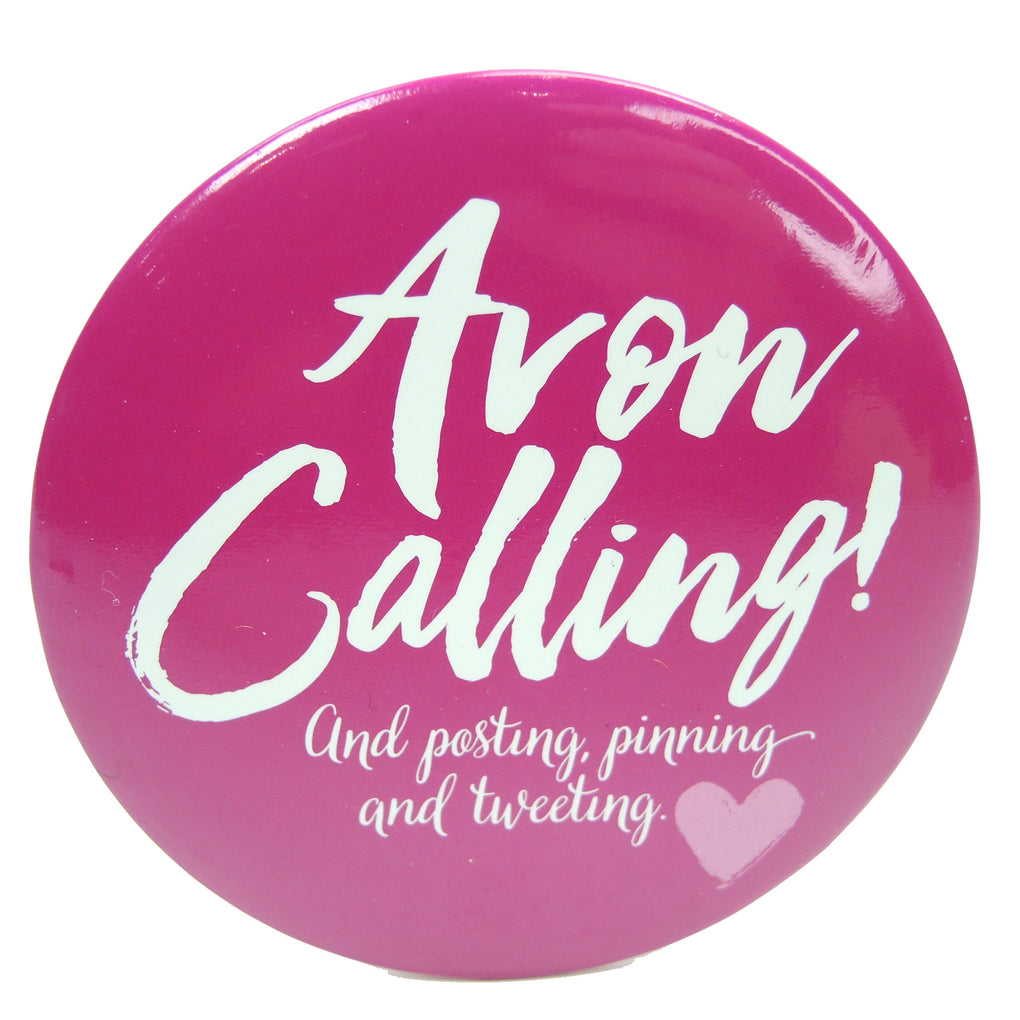 Avon Calling Compact Pocket Mirror (Pink) - Fazoom