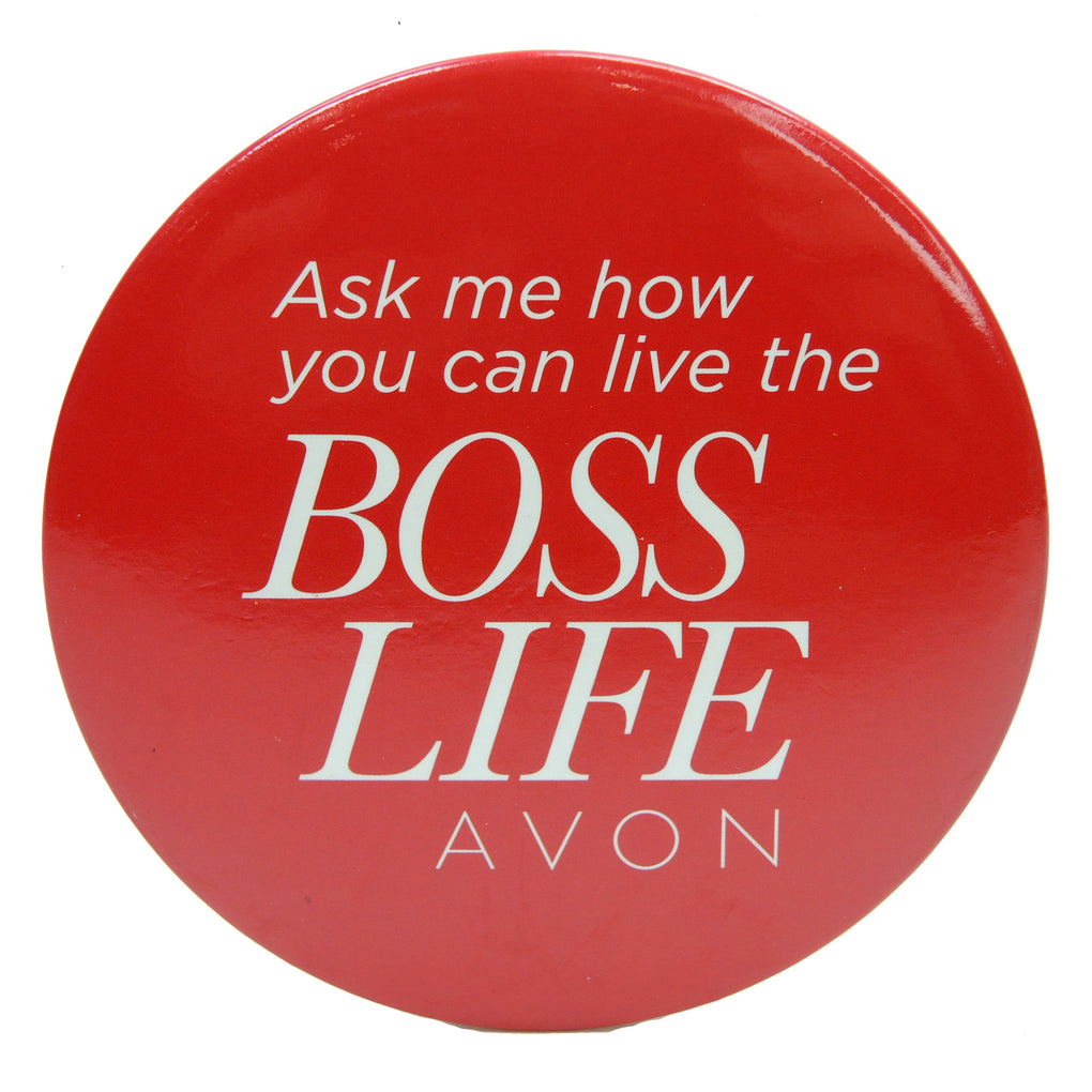 Avon Live the Boss Life Button (Red) - Fazoom