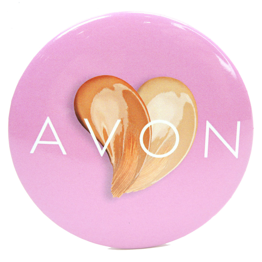 Avon Makeup Heart Button (Pink) - Fazoom