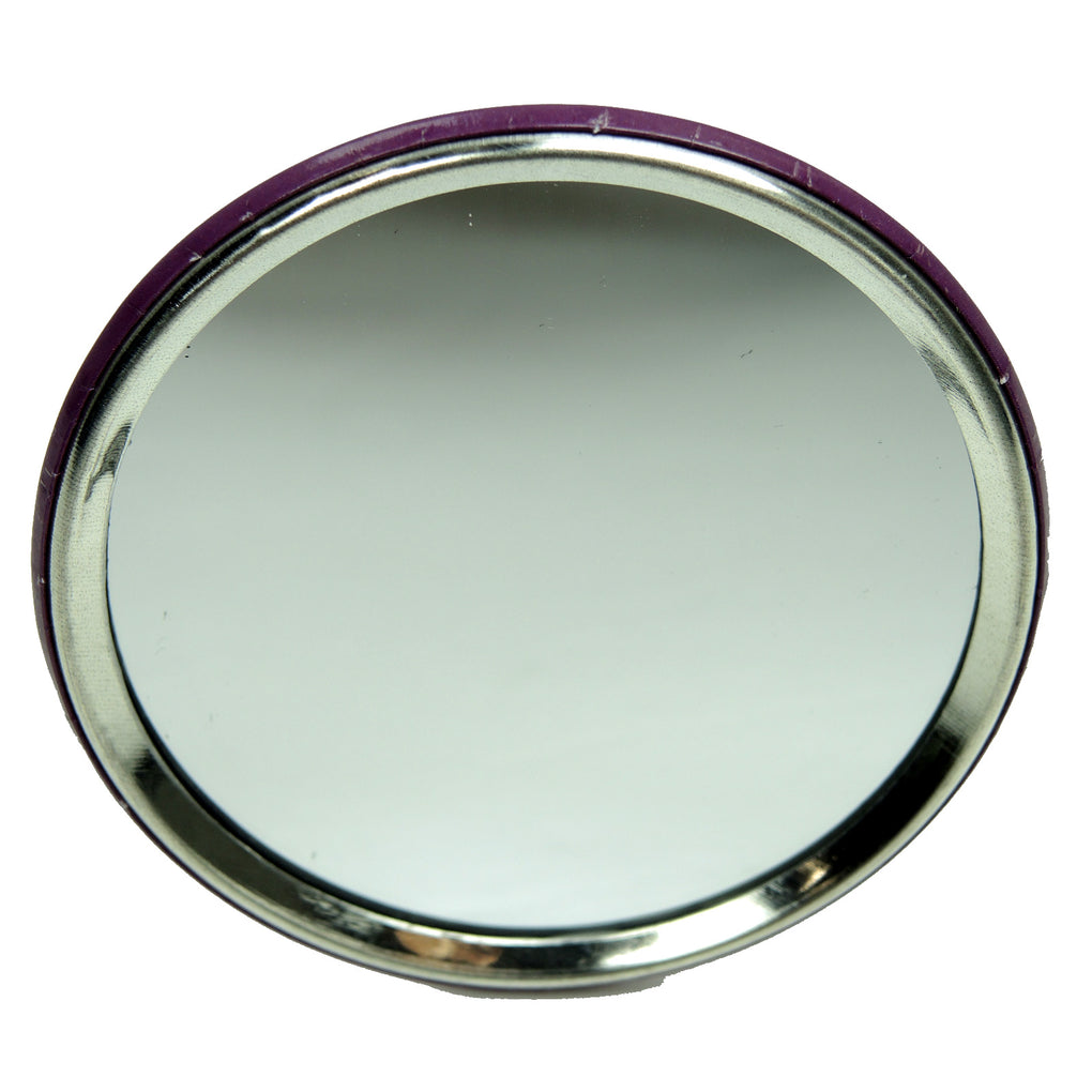 Avon Vive Como Un Jefe Button + Compact Pocket Mirror Set (Purple) - Fazoom