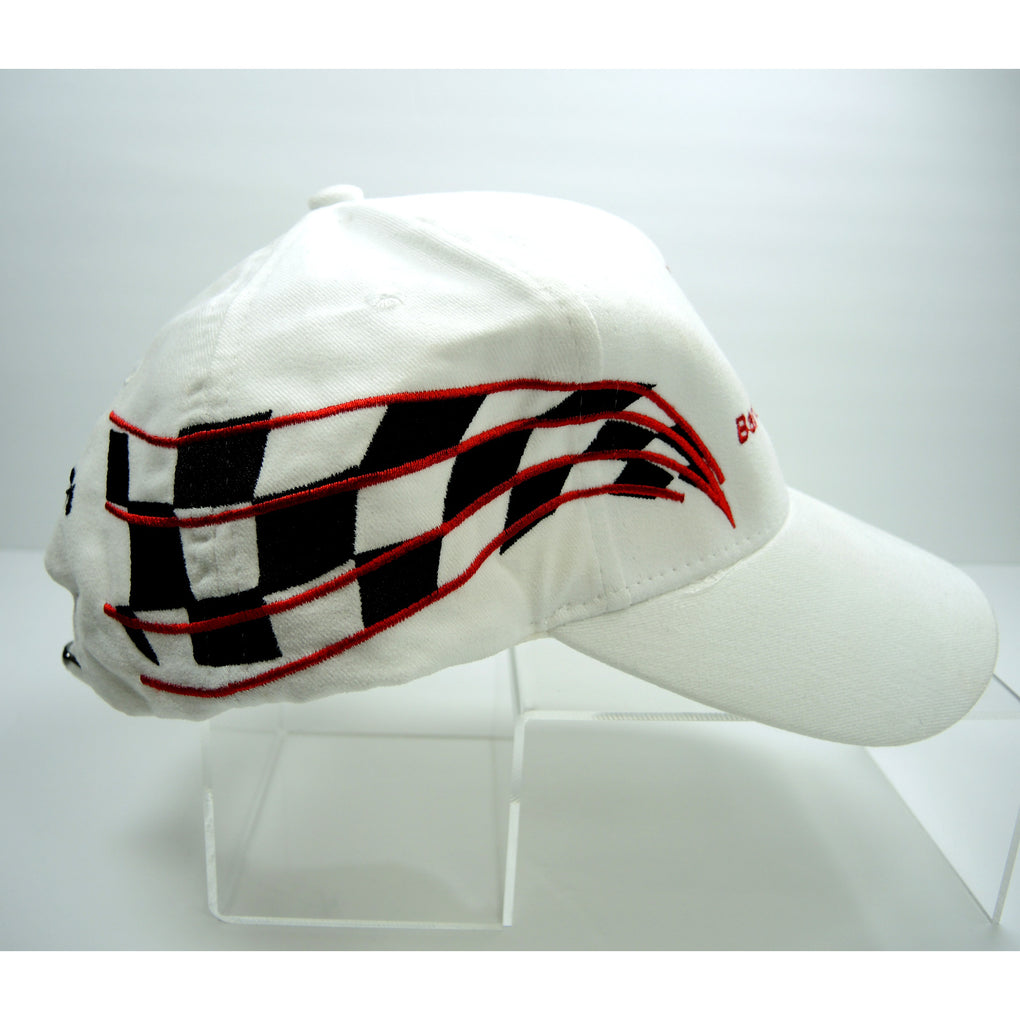 Barth Electric Co Inc White Racing Hat Adjustable Strapback Cap ~ Indianapolis Indiana - Fazoom