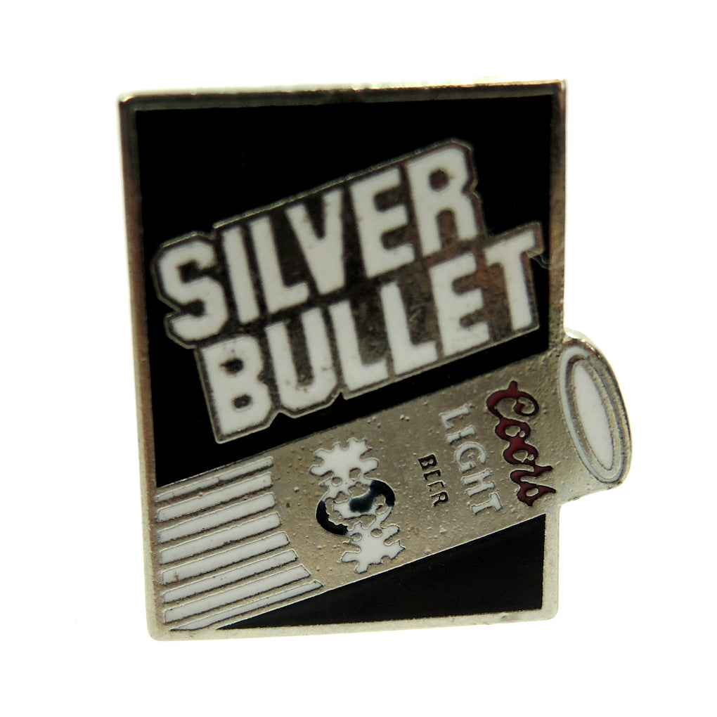 Coors Light Beer Silver Bullet Lapel Pin