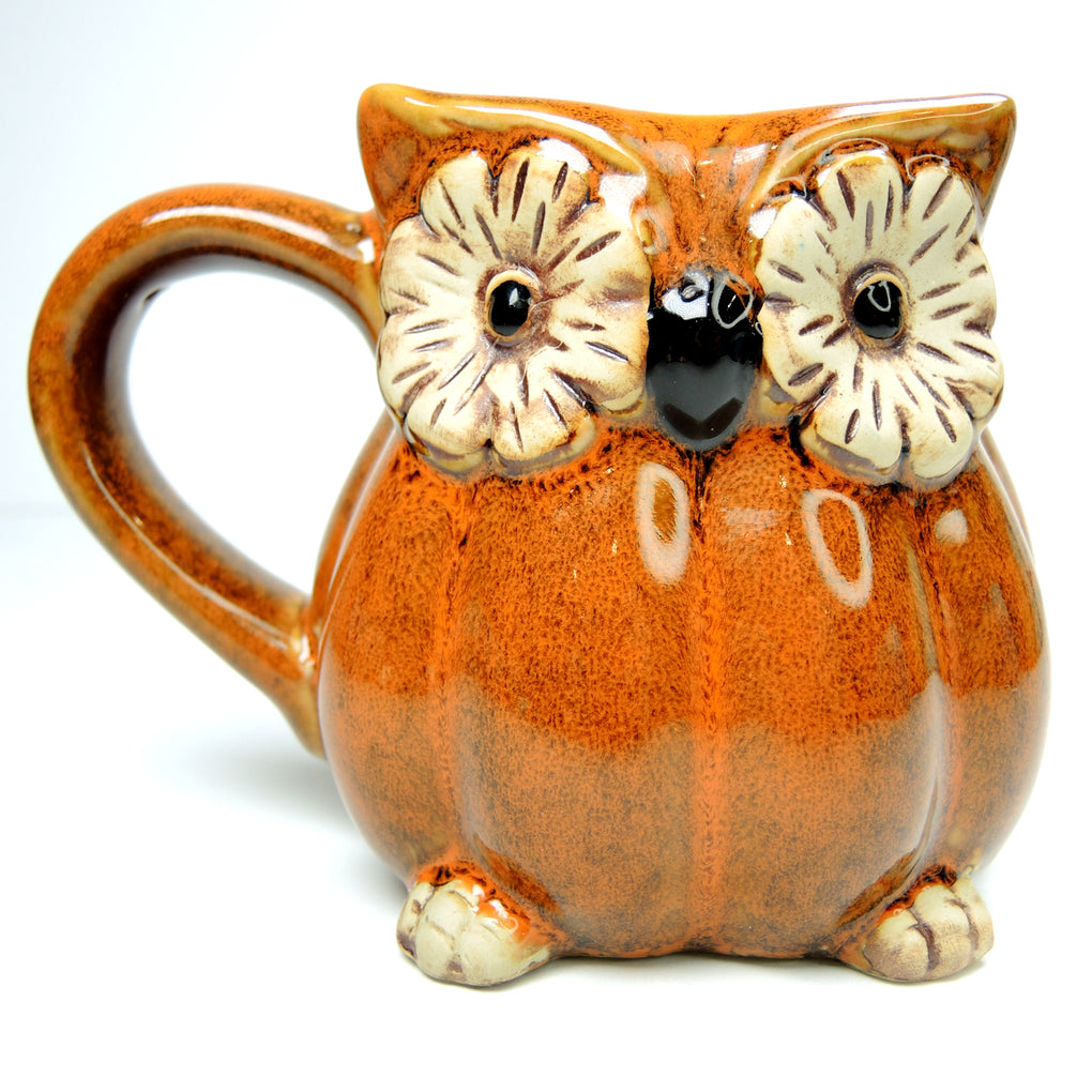 Cracker Barrel Owl Brown Coffee Mug ~ 12 oz - Fazoom