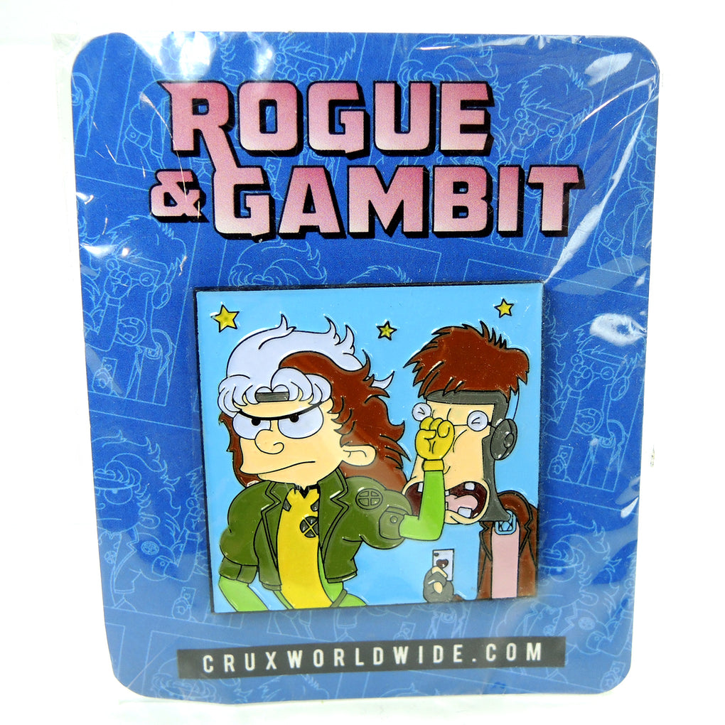 CRUXWORLDWIDE Rogue & Gambit Mashup Lapel Pin - Fazoom