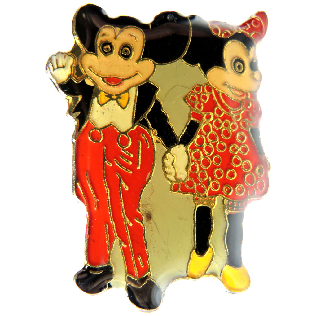Disney Mickey Mouse & Minnie Mouse Vintage Lapel Pin - Fazoom