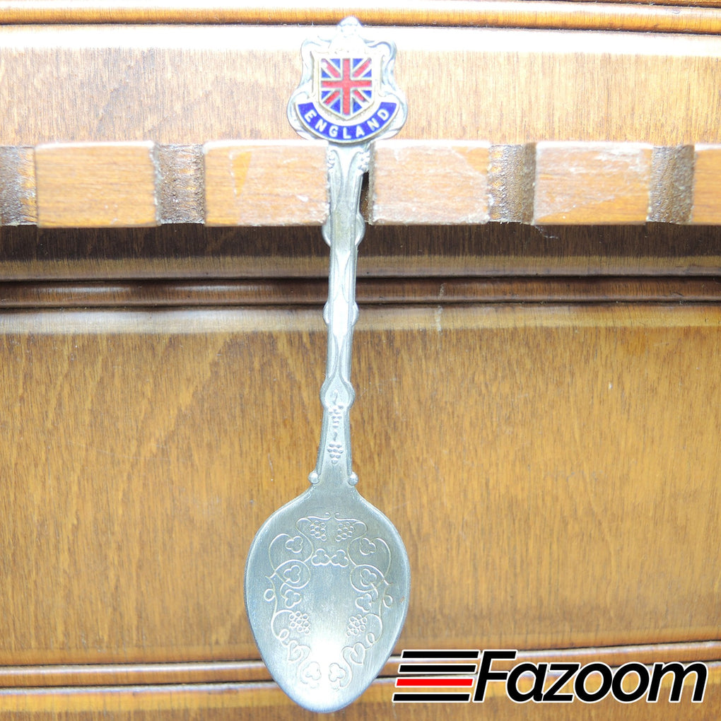 England Union Jack Souvenir Collectible Silverplated Spoon - Fazoom