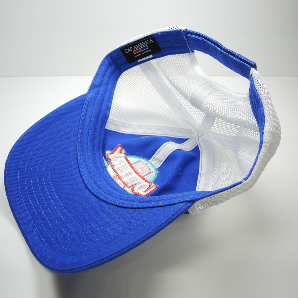 Hoosier Lottery Cotton & Mesh Hat ~ Blue Strapback ~ Indiana