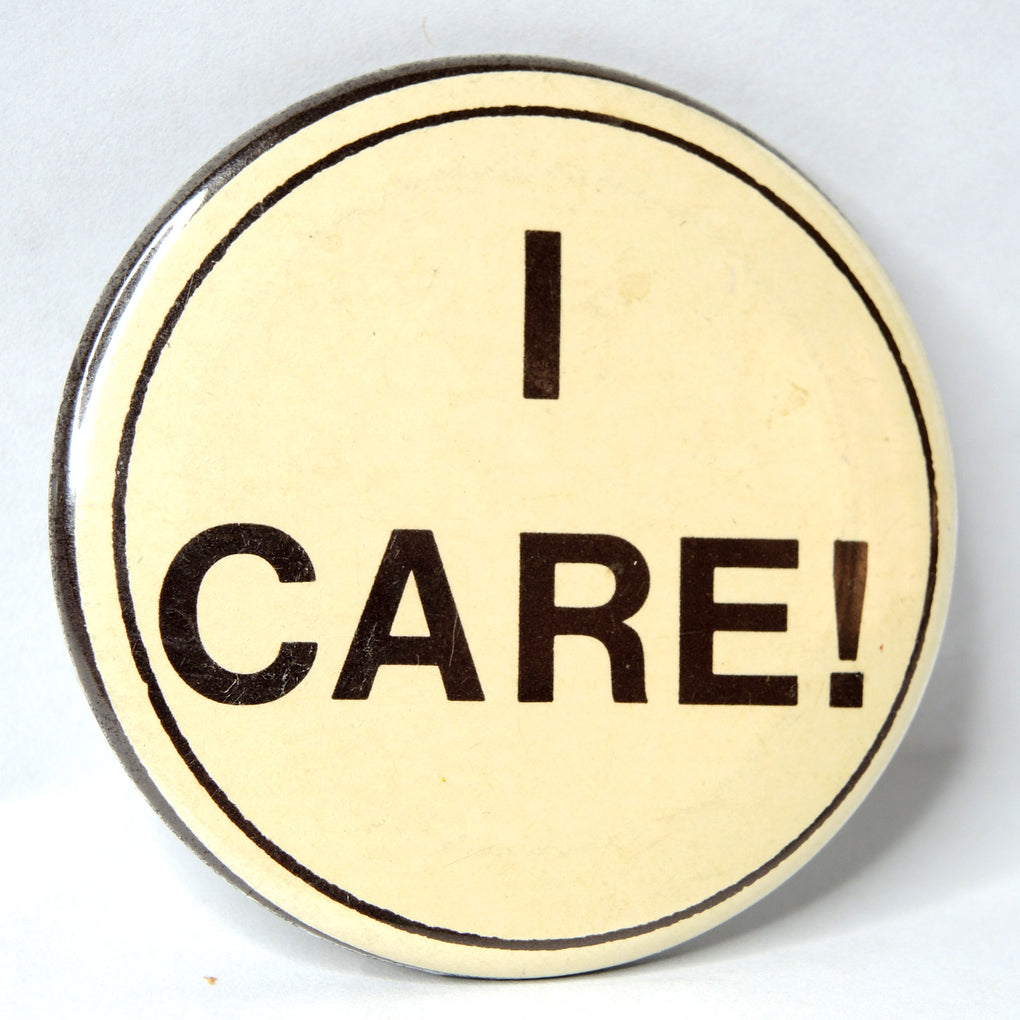 I Care Vintage 2-inch Round Button