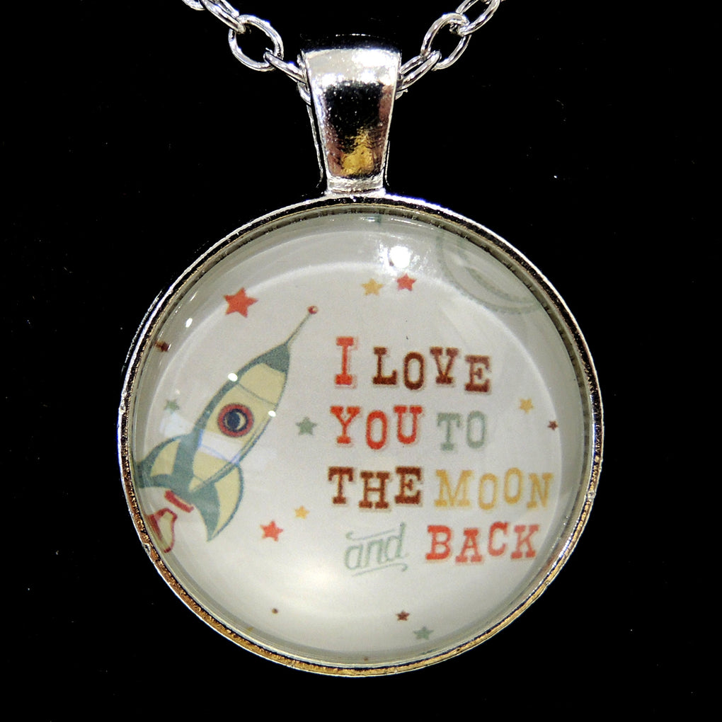 I Love You To The Moon and Back Rocket ~ Silver Tone 19