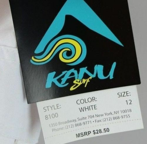 Kanu Surf Women's Breeze Stretch Boardshort #8100 (Solid White)