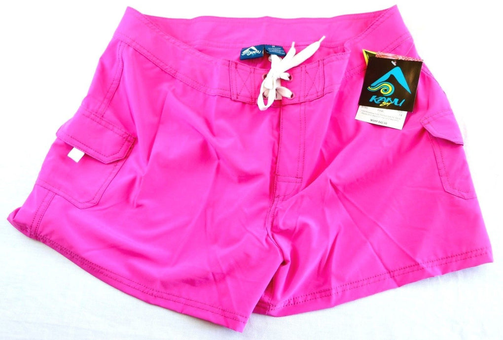 Kanu Surf Women's Breeze Stretch Boardshort #8180 (14, Solid Pink) - Fazoom