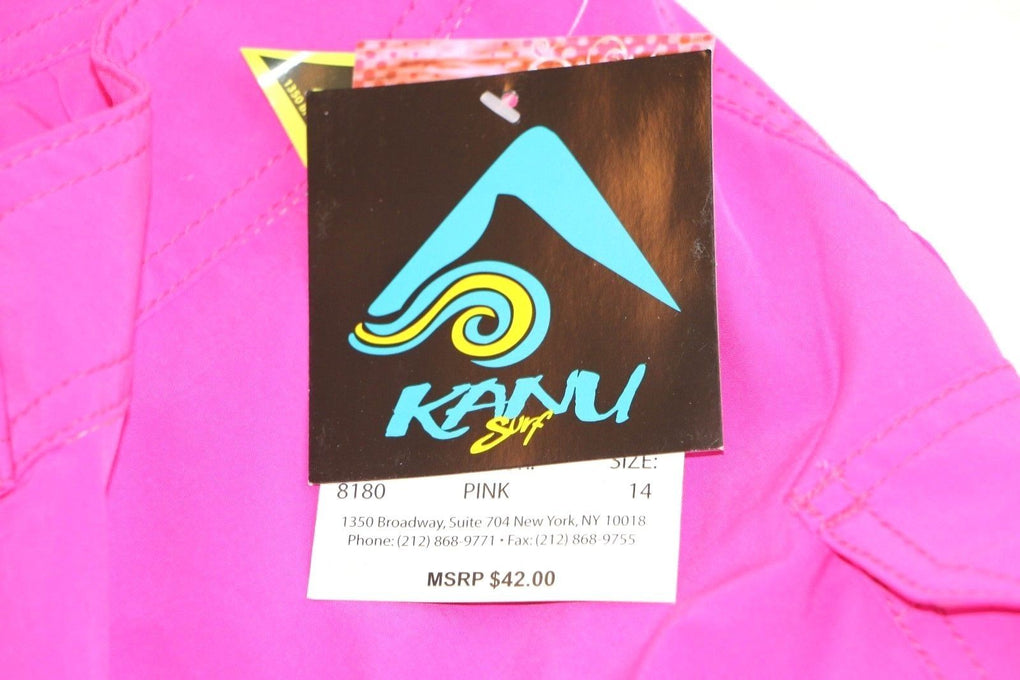 Kanu Surf Women's Breeze Stretch Boardshort #8180 (12, Solid Pink) - Fazoom
