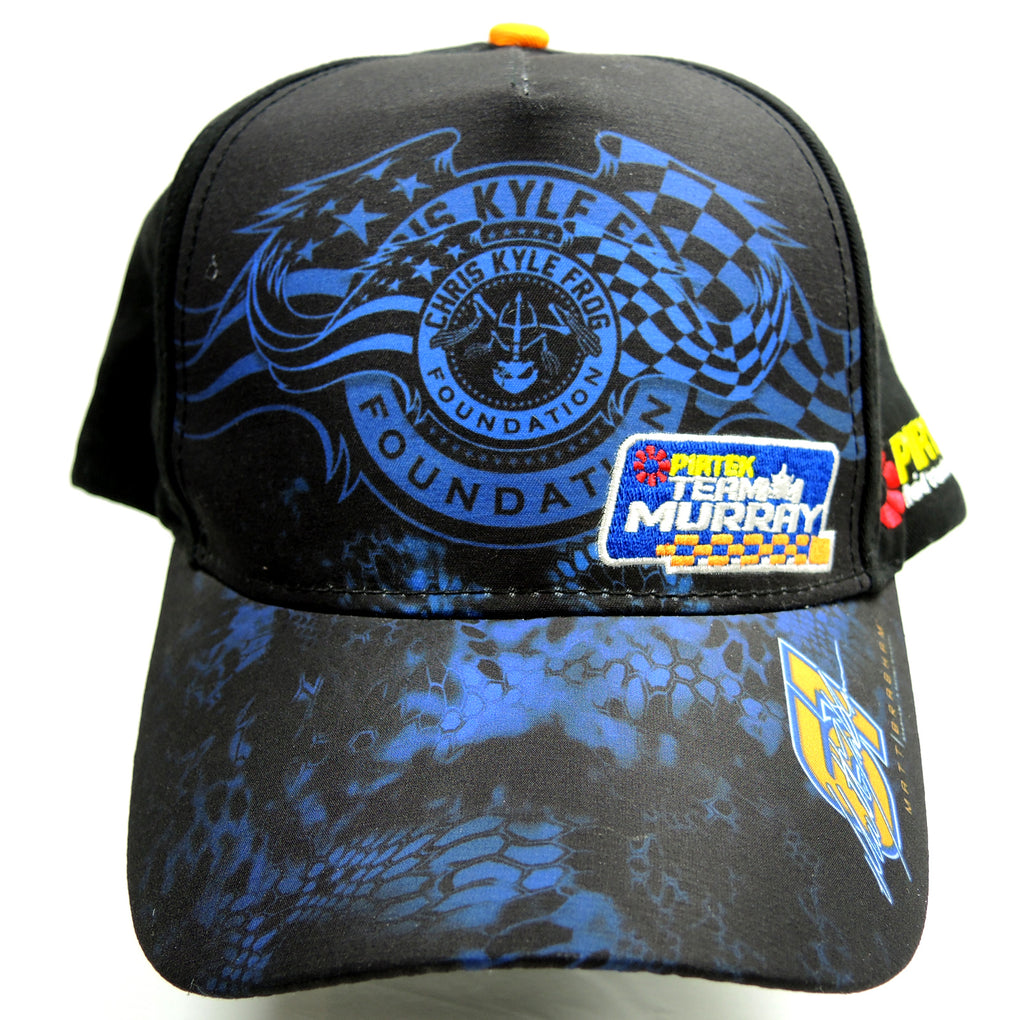 Matt Brabham Pirtek Team Murray Black Hat ~ Adjustable Strapback Cap ~ Chris Kyle Frog Foundation - Fazoom