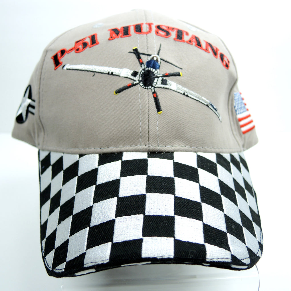 North American P-51 Mustang Ace Maker Hat ~ Adjustable Strapback Cap ~ World War II WWII - Fazoom