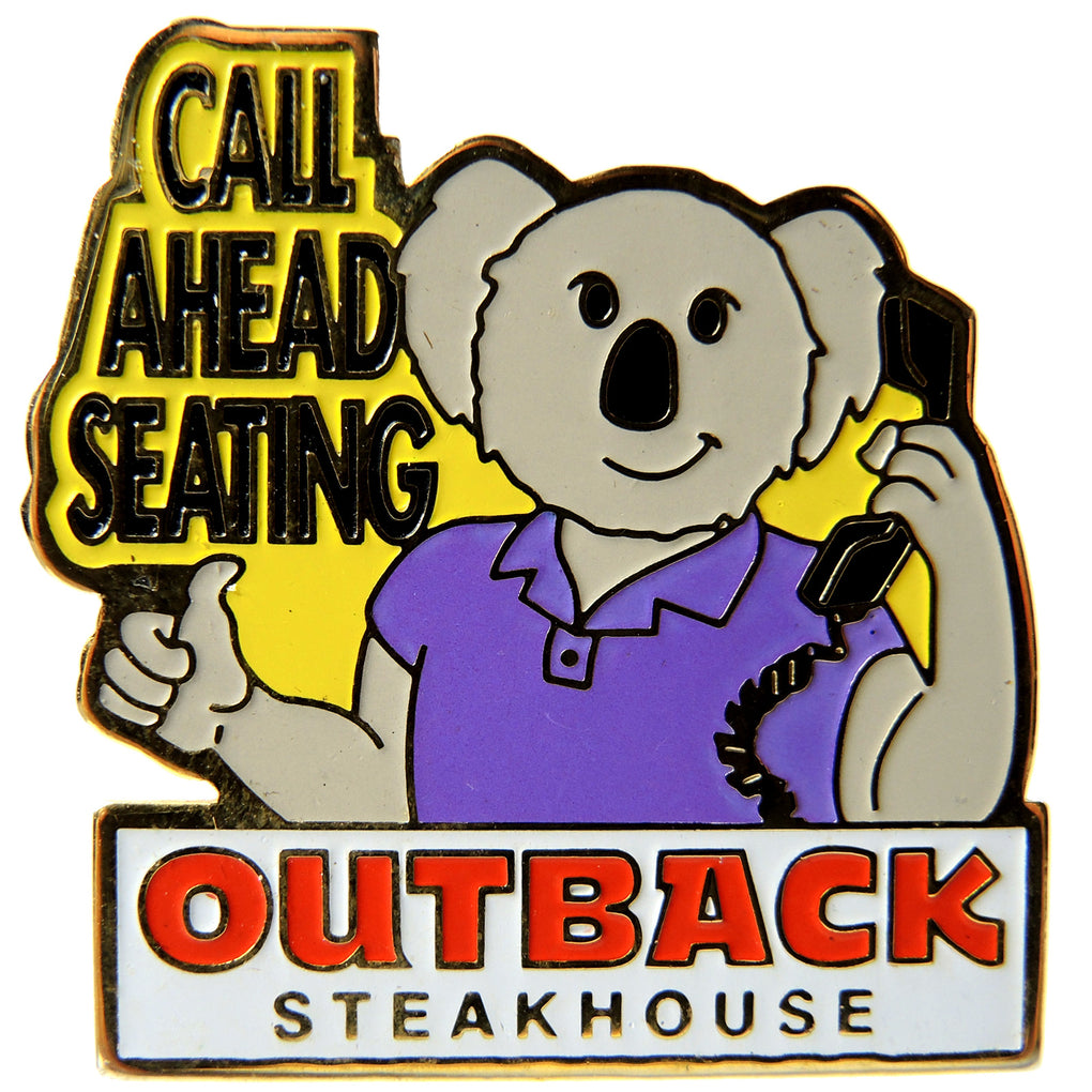 Outback Steakhouse Call Ahead Seating Lapel Pin - Fazoom