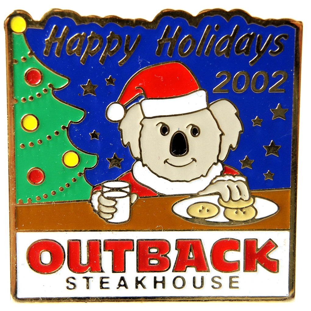 Outback Steakhouse Christmas Happy Holidays 2002 Lapel Pin