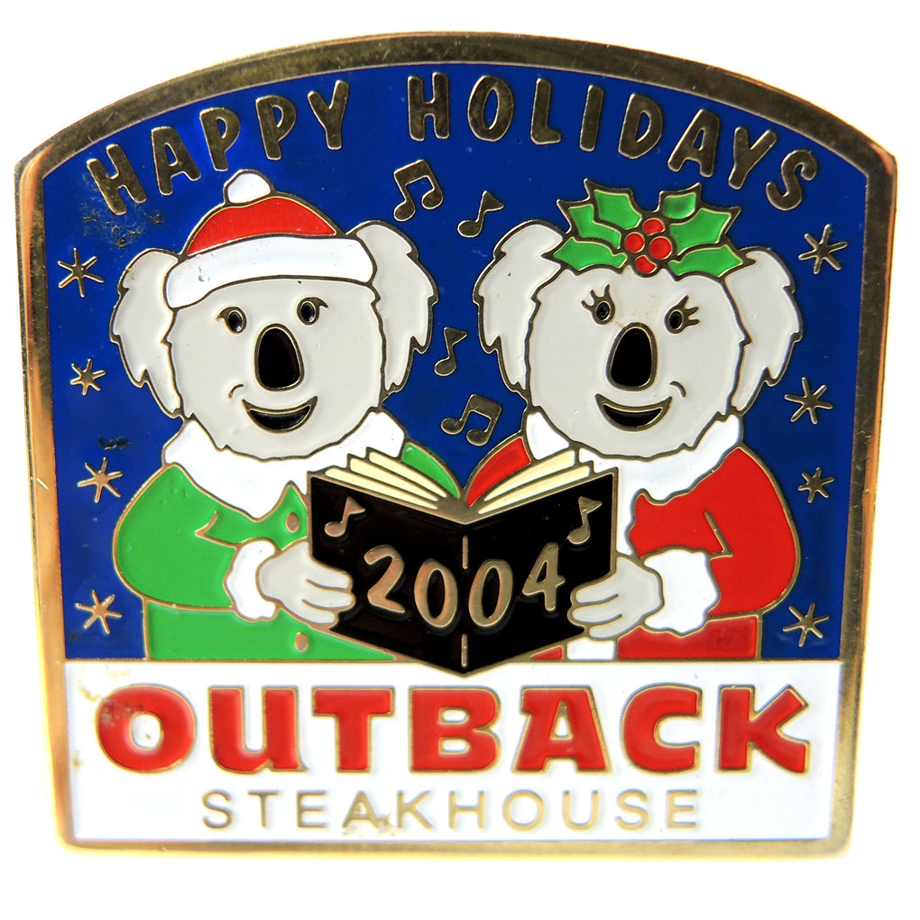 Outback Steakhouse Christmas Happy Holidays 2004 Lapel Pin - Fazoom