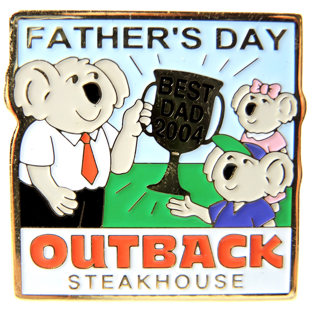 Outback Steakhouse Father's Day 2004 Lapel Pin