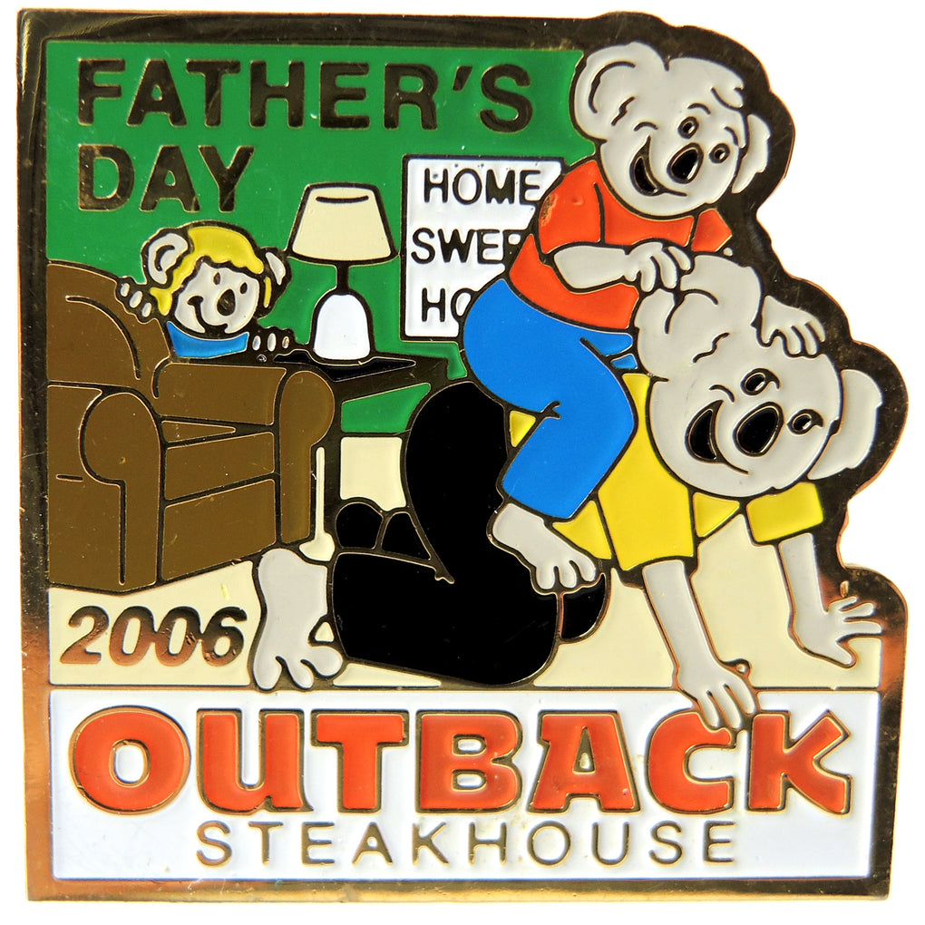 Outback Steakhouse Father's Day 2006 Lapel Pin