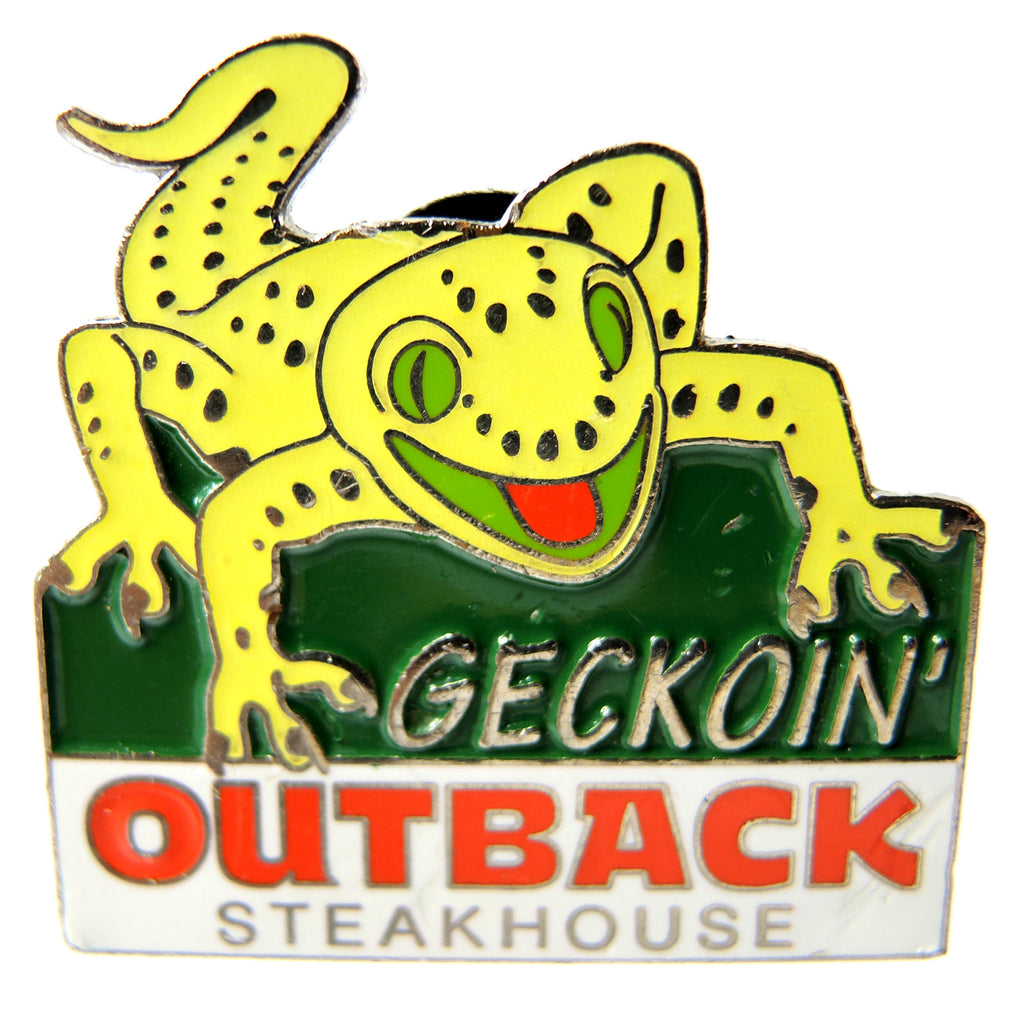 Outback Steakhouse Geckoin' Gecko Glow in the Dark Lapel Pin - Fazoom