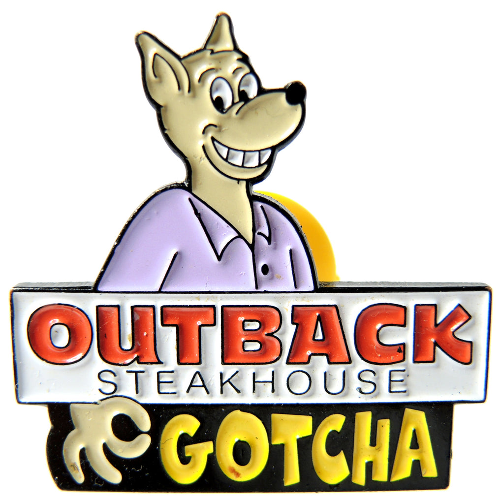 Outback Steakhouse Gotcha Kangaroo Lapel Pin