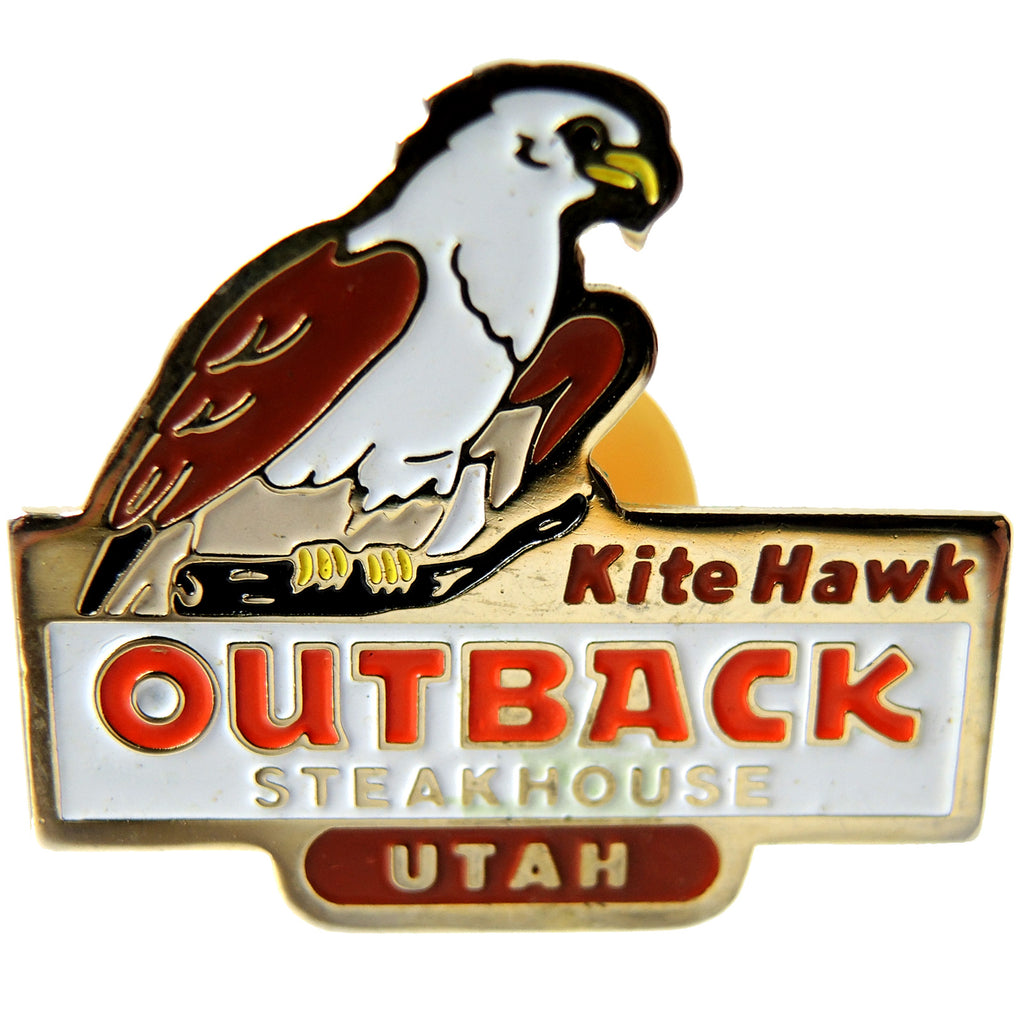 Outback Steakhouse Kite Hawk Utah Lapel Pin - Fazoom
