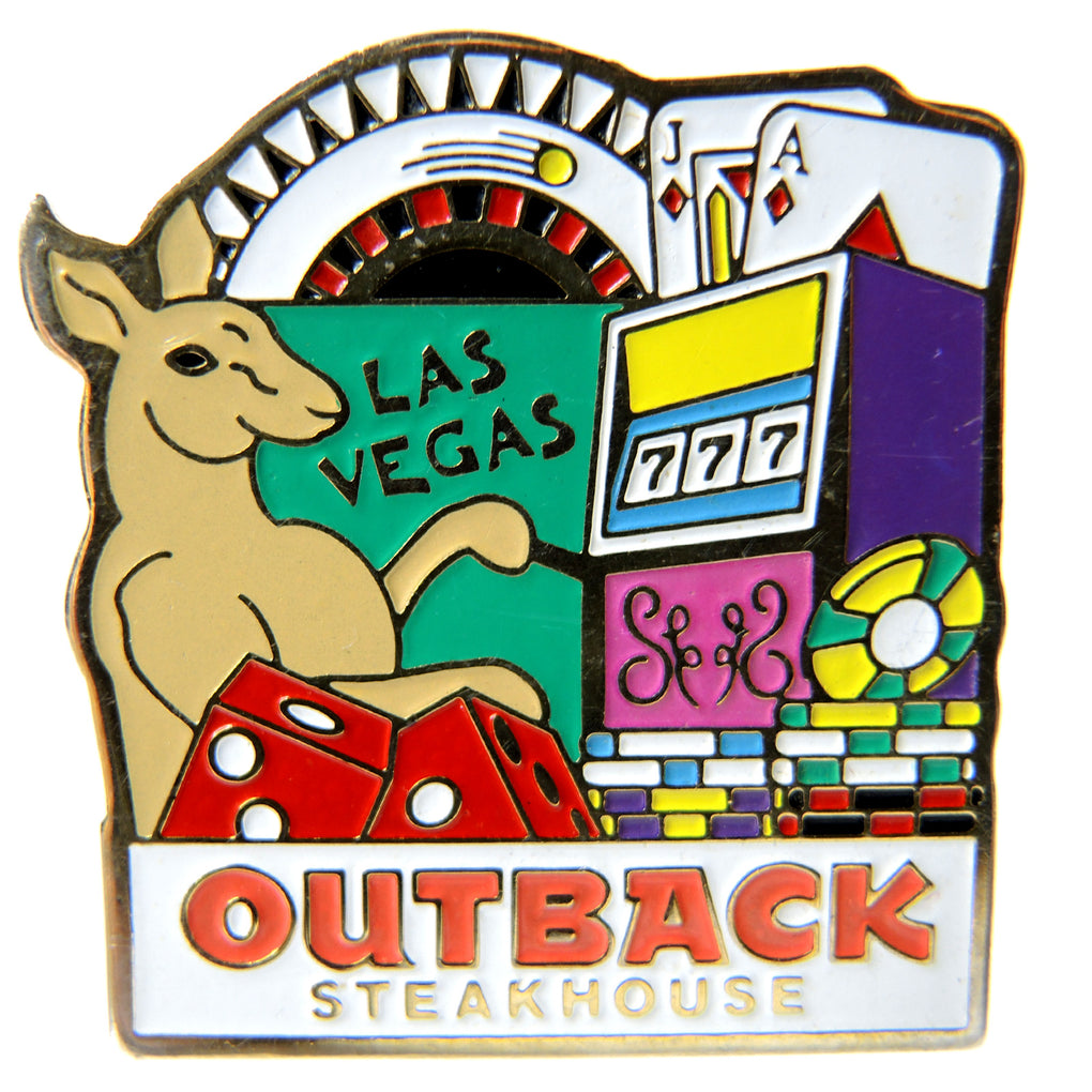 Outback Steakhouse Las Vegas Kangaroo Gambling Lapel Pin