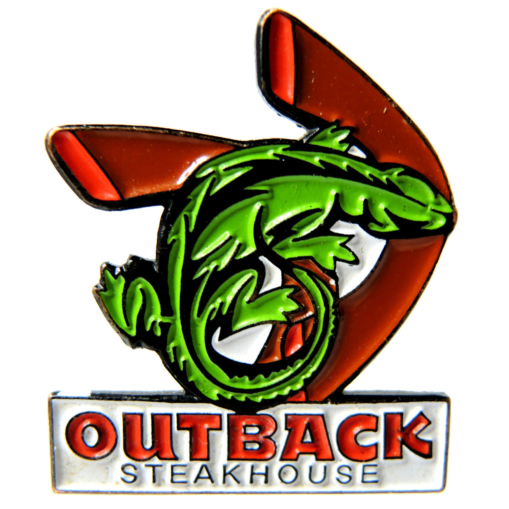 Outback Steakhouse Lizard Boomerangs Lapel Pin - Fazoom