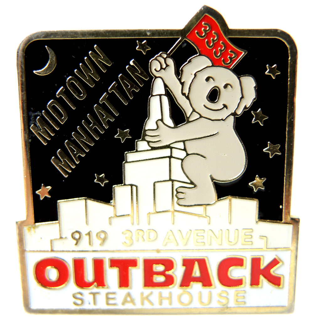 Outback Steakhouse Midtown Manhattan NYC Lapel Pin - Fazoom